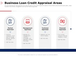 Business Loan Credit Appraisal Areas Technical Ppt Powerpoint Presentation Summary Deck