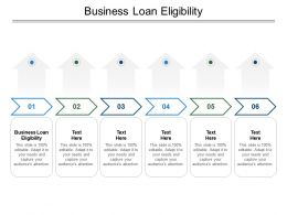 Business Loan Eligibility Ppt Powerpoint Presentation Portfolio Information Cpb