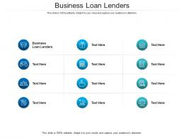 Business Loan Lenders Ppt Powerpoint Presentation Icon Elements Cpb