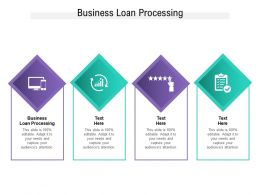 Business Loan Processing Ppt Powerpoint Presentationmodel Brochure Cpb