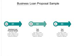 Business Loan Proposal Sample Ppt Powerpoint Presentation Outline Show Cpb