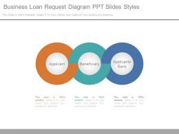 Business Loan Request Diagram Ppt Slides Styles