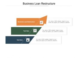 Business Loan Restructure Ppt Powerpoint Presentation Gallery Visual Aids Cpb