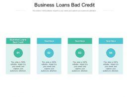 Business Loans Bad Credit Ppt Powerpoint Presentation Outline Slide Download Cpb