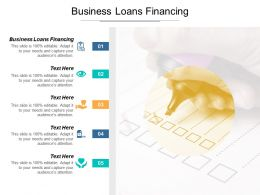 Business Loans Financing Ppt Powerpoint Presentation Gallery Professional Cpb