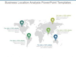 Business Location Analysis Powerpoint Templates