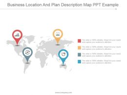 Business Location And Plan Description Map Ppt Example