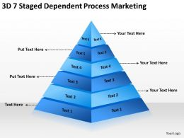 Business Logic Diagram 3d 7 Staged Dependent Process Marketing Powerpoint Templates 0522