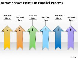 business_logic_diagram_arrow_shows_points_parallel_process_powerpoint_slides_Slide01