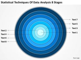 Business Logic Diagram Statistical Techniques Of Data Analysis 8 Stages Powerpoint Slides