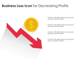 Business Loss Icon For Decreasing Profits