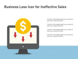 Business Loss Icon For Ineffective Sales