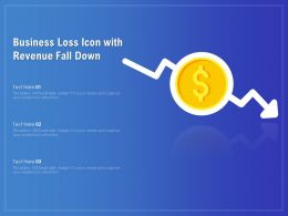 Business Loss Icon With Revenue Fall Down
