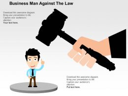 Business Man Against The Law Flat Powerpoint Design