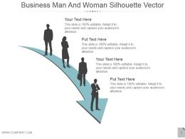 Business Man And Woman Silhouette Vector Presentation Images