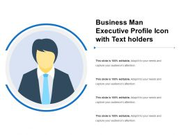 Business Man Executive Profile Icon With Text Holders