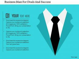Business Man For Deals And Success Flat Powerpoint Design