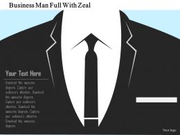 Business Man Full With Zeal Flat Powerpoint Design