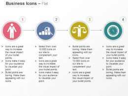 Business Man Growth Analysis Balancing Man Clock Ppt Icons Graphics
