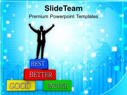 Business Man Improving Business Success Powerpoint Templates Ppt Themes And Graphics 0113