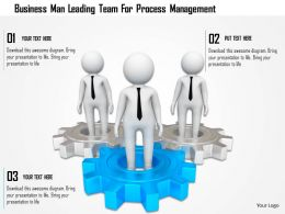 Business Man Leading Team For Process Management Ppt Graphics Icons