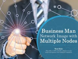 Business Man Network Image With Multiple Nodes