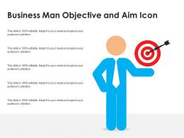 Business Man Objective And Aim Icon