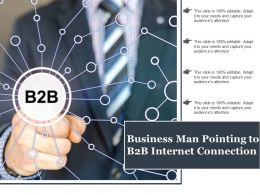 Business Man Pointing To B2b Internet Connection