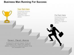 Business Man Running For Success Flat Powerpoint Design
