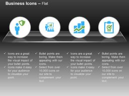 Business Man Safety Shield Team Discussion Bar Graph Checklist Ppt Icons Graphics