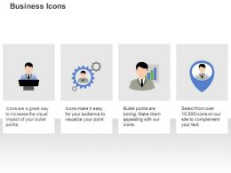 Business Man Settings Manager With Growth User Pointer Icon Ppt Icons Graphics