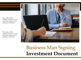 Business Man Signing Investment Document