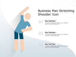 Business Man Stretching Shoulder Icon