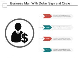 Business Man With Dollar Sign And Circle