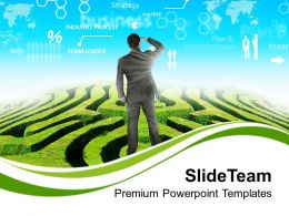 Business Man With Future Vision PowerPoint Templates PPT Themes And Graphics 0313