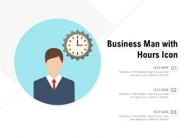 Business Man With Hours Icon