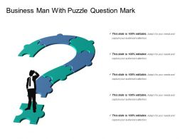 Business Man With Puzzle Question Mark