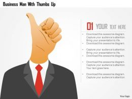 Business Man With Thumbs Up Powerpoint Template