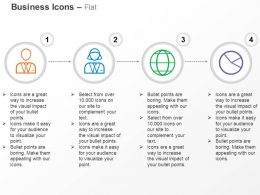 Business Man Woman Global Icon Pie Chart Ppt Icons Graphics