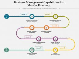 Business Management Capabilities Six Months Roadmap