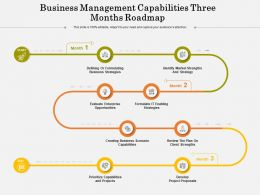 Business Management Capabilities Three Months Roadmap