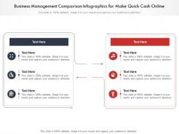 Business Management Comparison Infographics For Make Quick Cash Online Infographic Template