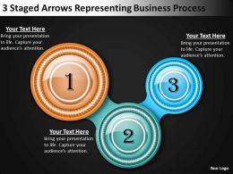 Business Management Consultants 3 Staged Arrows Representing Process Powerpoint Slides