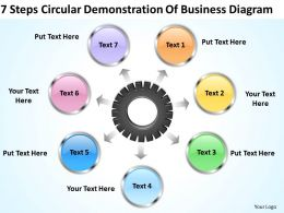Business Management Consultants Circular Demonstration Of Diagram Powerpoint Templates 0523