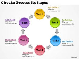 Business Management Consultants Circular Process Six Stages Powerpoint Slides 0523