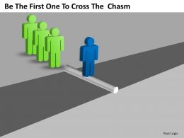 Business Management Consultants To Cross The Chasm Powerpoint Templates PPT Backgrounds For Slides