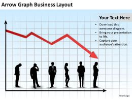 Business Management Consulting Arrow Graph Layout Powerpoint Templates PPT Backgrounds For Slides