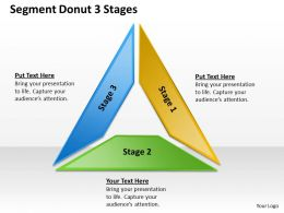 Business Management Consulting Donut 3 Stages Powerpoint Templates PPT Backgrounds For Slides 0620