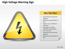 Business Management Consulting High Voltage Warning Sign Powerpoint Slides 0528