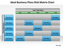 Business Management Consulting Ideal Plans Risk Matrix Chart Powerpoint Slides 0527